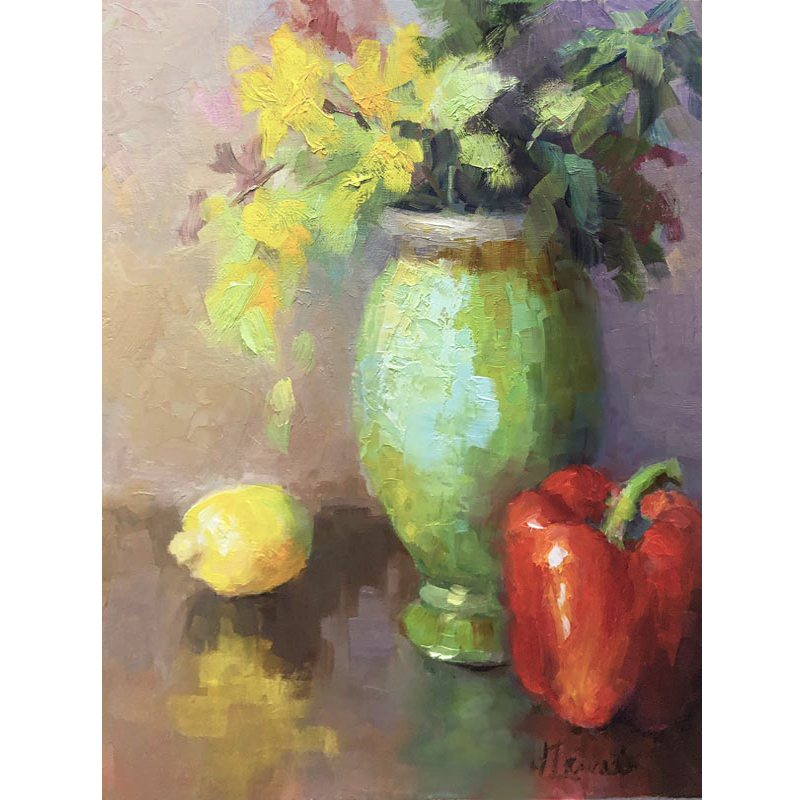 Lancaster_Lemon, Pepper & Green Vase